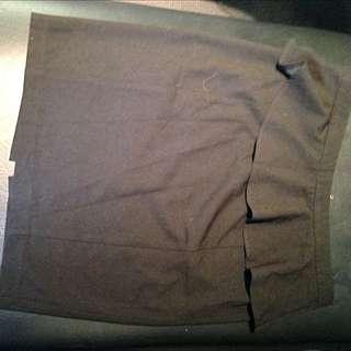 Black Pencil Skirt Size 12