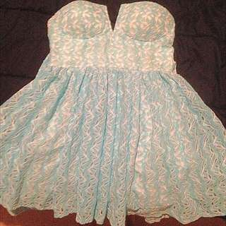 Blue Netted Dress