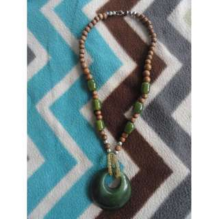 Big Green Amulet Necklace