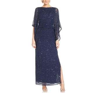 Patra Kimono-Sleeve Beaded Blouson Gown - Size 6 - 53% Off!!
