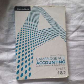 Cambridge Accounting 1/2 Textbook
