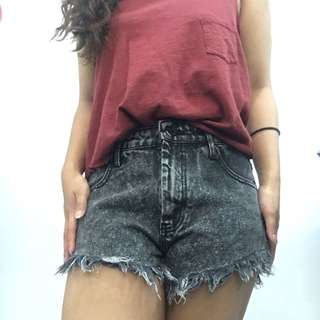 Forever 21 High Waisted Distressed Shorts