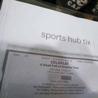 Cold play Tickets