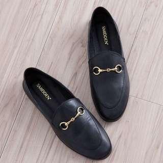 udifashion 金釦2WAY真皮鞋