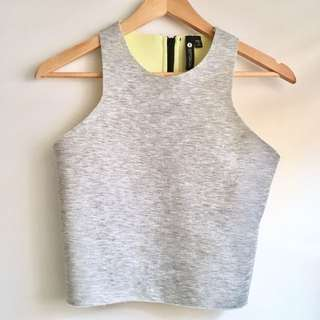 Neoprene Raw Edge Crop Top