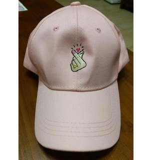 手指愛心帽子