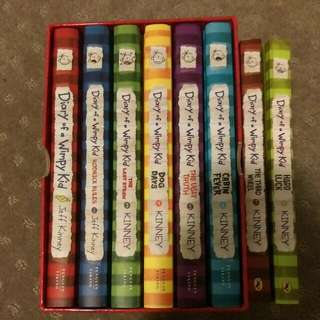 Diary Of A Wimpy Kid Books 1-8