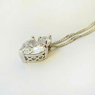 Heart Zircon Chain Necklace