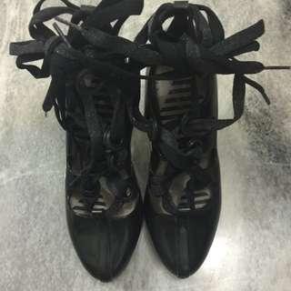 Melissa X Vivienne Westwood Strap Black Shoes