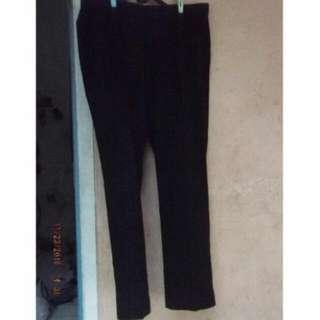 celana bahan panjang pria warna hitam