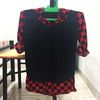 Checked Red Black Shirt