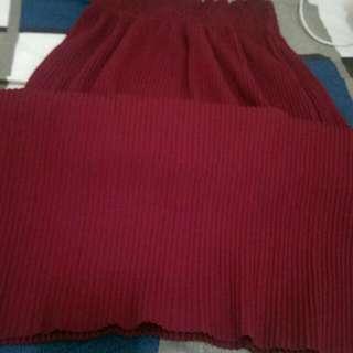酒紅 長裙