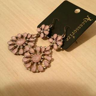 Pink Dripping Earrings
