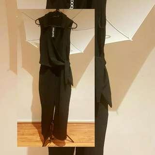 BOOHOO wrap over tie jumpsuit