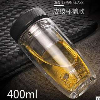 High Premium Double Layer Tea Cup Glass Bottle / Gift / Present / Birthday