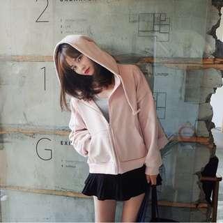 粉色寬鬆百搭外套
