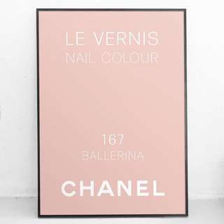 Various Framed Chanel Prints