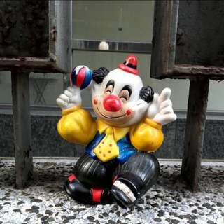 台灣早期外銷歐美 小丑造型陶瓷擺件.擺飾品