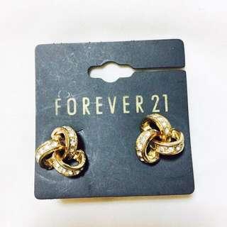 Forever 21 Gold Knot Earrings