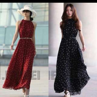 Maxi Dress with Belth