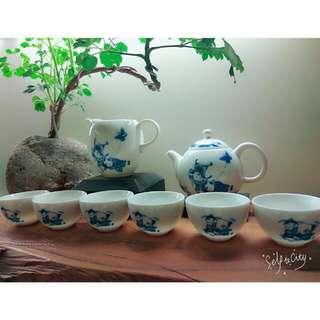 青花瓷茶具組