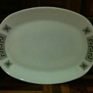 Oval Plate JAJ Pyrex Greek Key