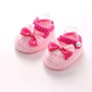 Pink Crochet Shoes