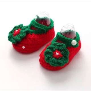 Red Crochet Shoes