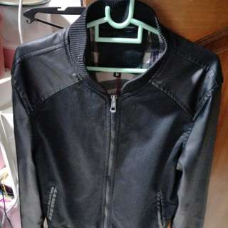 Black Sleeve Leather Jacket
