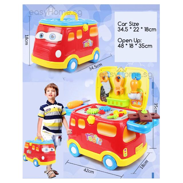 2 in 1 Car & Vanity (No.6880) - Pretend Role Play Kids Baby Toy