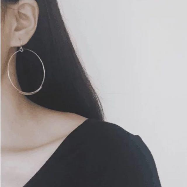 降🔊金屬管4cm大圈圈耳環