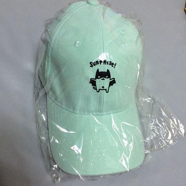 全新蘋果嫩綠色老帽💚