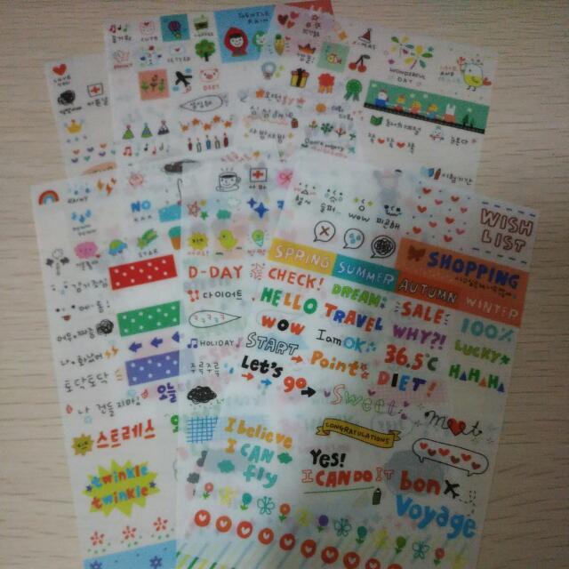 韓國小貼紙全部一起賣