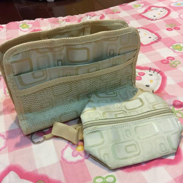 皮包收納包中包-米色(含運)