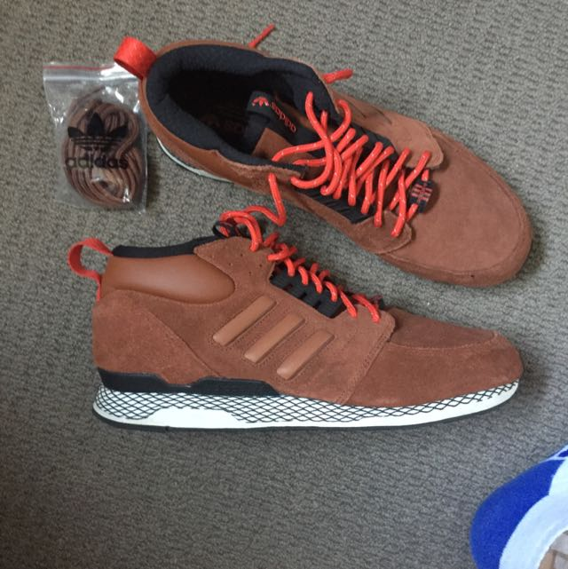 Adidas Brown Mid Fluxes Never Worn