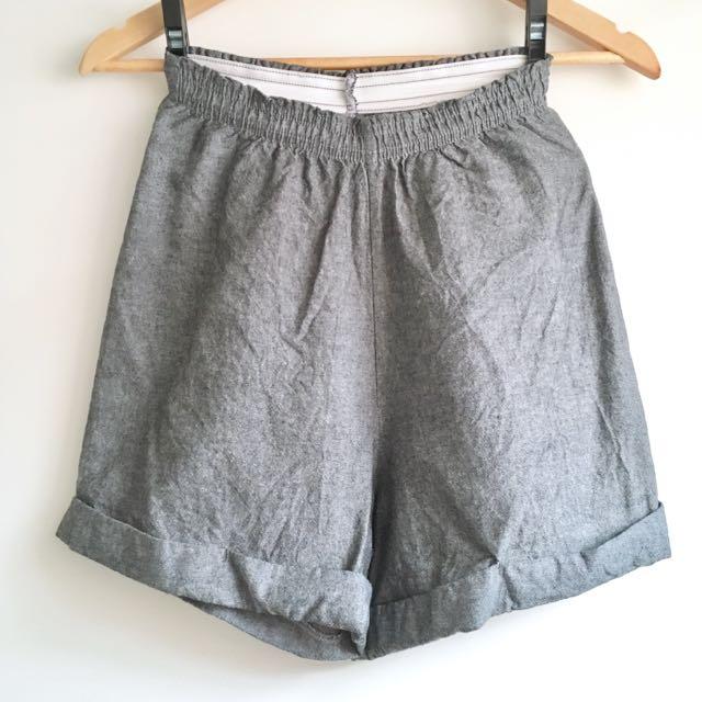 American Apparel Rolled Hem Shorts