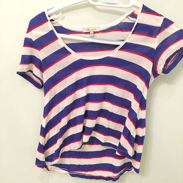 Aritzia Striped Crop Top
