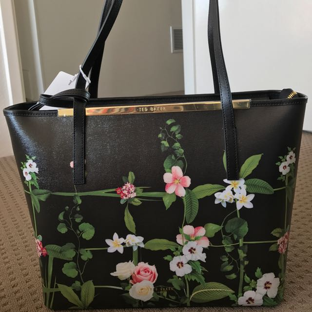 Authentic* Ted Baker Secret Trellis Shopper Tote Bag