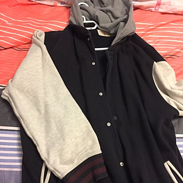 Black Button Up Hoodie