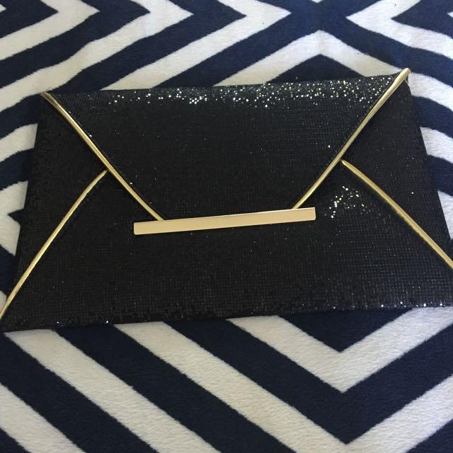 Black N Gold Wallet/purse