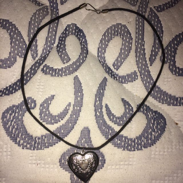Black Necklace With Locket