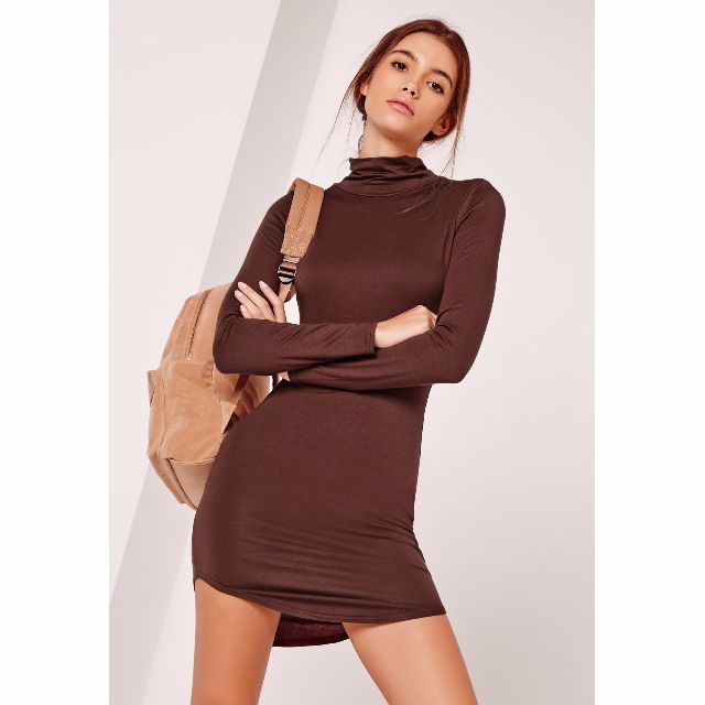 (BN) Roll neck bodycon dress
