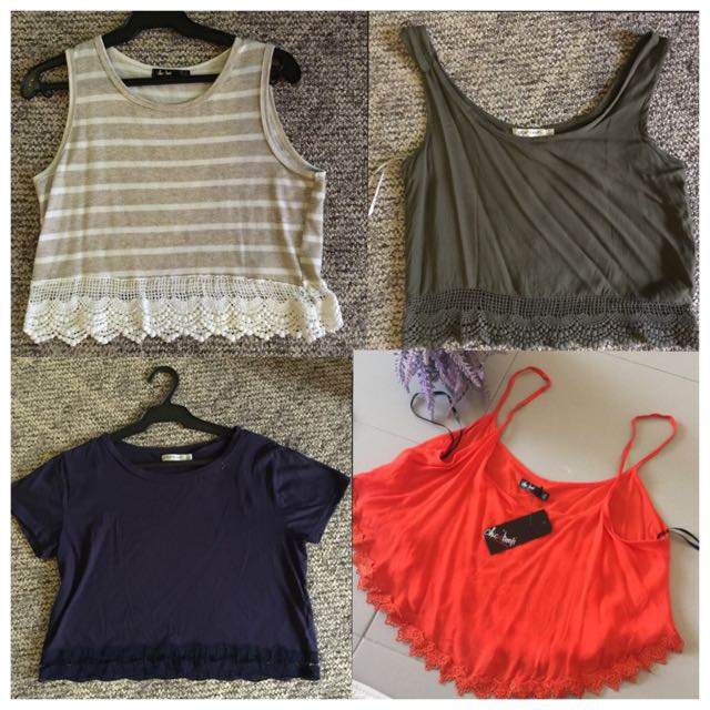 Branded Crop Tops New/Used once