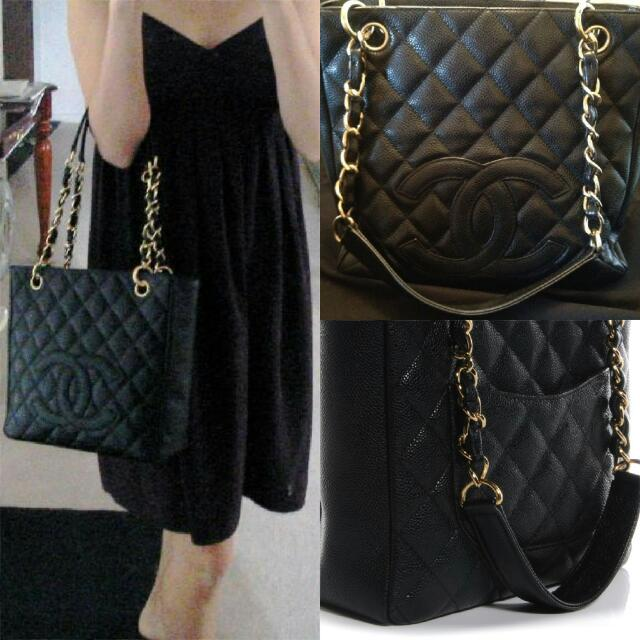 a1cd99b369fe Chanel Petite Shopping Tote Bag