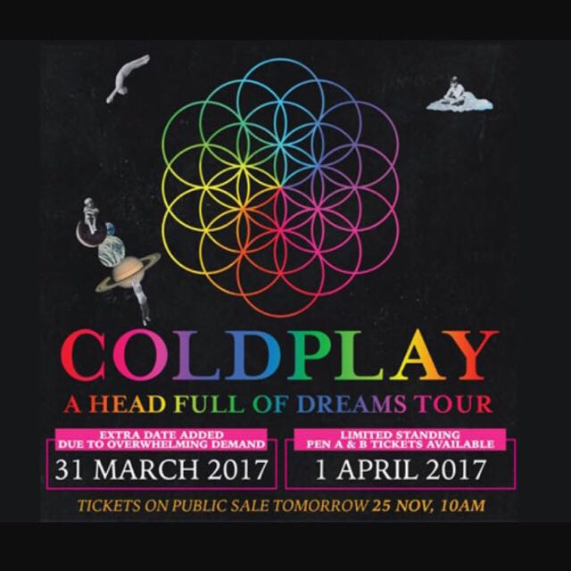 WTS COLDPLAY TICKET
