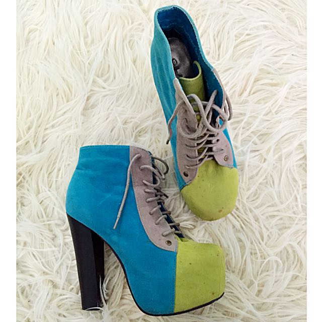 Colorblock Boots