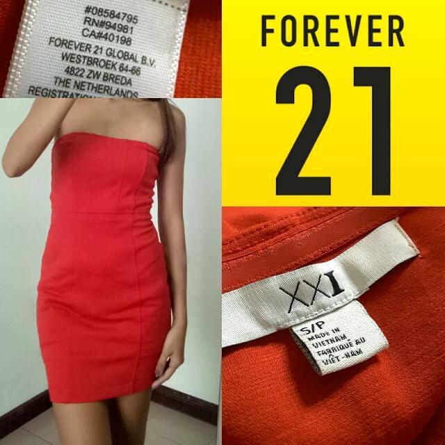 (XXI) Forever 21 Tube Red Dress