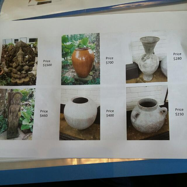 Garden Water Features and Pots