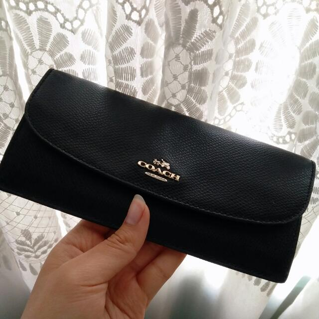 AUTHENTIC Black Coach Wallet - Brand New