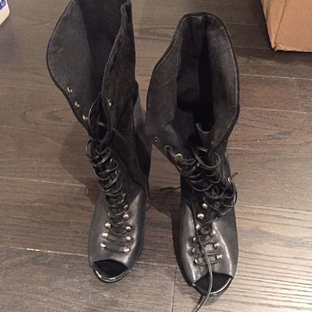 Guess Open Toe Boots size 10